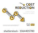 flat design of minimalist graph ... | Shutterstock .eps vector #1064405780