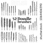 set of doodle brushes in the...   Shutterstock .eps vector #1064406590