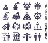 group of business people icons... | Shutterstock .eps vector #1064408783