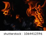 close up view inside the bbq... | Shutterstock . vector #1064412596