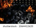 close up view inside the bbq... | Shutterstock . vector #1064412620