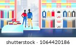 fashion shop interior... | Shutterstock .eps vector #1064420186