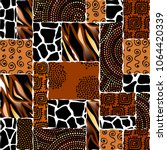 ethnic boho seamless pattern in ... | Shutterstock .eps vector #1064420339
