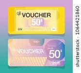 modern voucher template | Shutterstock .eps vector #1064421860
