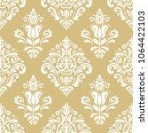 classic seamless vector golden... | Shutterstock .eps vector #1064422103