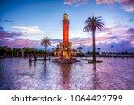 the clock tower view in izmir... | Shutterstock . vector #1064422799