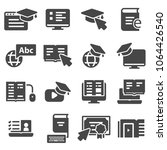 simple set of online education... | Shutterstock .eps vector #1064426540