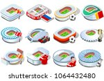 russia world cup 2018 football... | Shutterstock .eps vector #1064432480