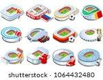 russia world cup 2018 football... | Shutterstock .eps vector #1064432480