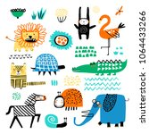 vector set of children's... | Shutterstock .eps vector #1064433266