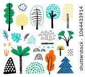 vector set of children's... | Shutterstock .eps vector #1064433914