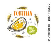 tortilla concept design. hand...   Shutterstock .eps vector #1064446610