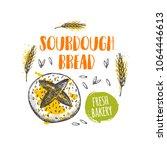 sourdough breadconcept design.... | Shutterstock .eps vector #1064446613