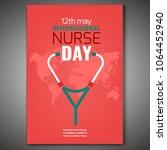 may 12 international nurse day... | Shutterstock .eps vector #1064452940
