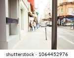 abstract blurred city background | Shutterstock . vector #1064452976