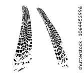 motorcycle tire tracks vector... | Shutterstock .eps vector #1064453996