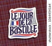vector logo for bastille day in ... | Shutterstock .eps vector #1064454164