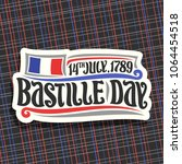 vector logo for bastille day in ... | Shutterstock .eps vector #1064454518