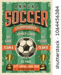 soccer typographical vintage... | Shutterstock .eps vector #1064456384