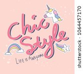 chic style t shirt design | Shutterstock .eps vector #1064457170