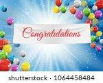 winner congratulations... | Shutterstock .eps vector #1064458484