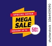 sale banner ads template in...   Shutterstock .eps vector #1064459090