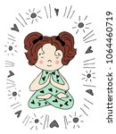 nursery poster with cute little ... | Shutterstock .eps vector #1064460719