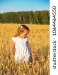 little girl walking in the... | Shutterstock . vector #1064464550