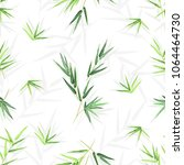 seamless background with bamboo ... | Shutterstock .eps vector #1064464730
