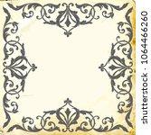 retro baroque decorations...   Shutterstock .eps vector #1064466260