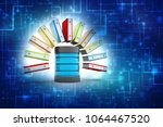 database or archive concept.... | Shutterstock . vector #1064467520