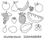 abstract fruits one line... | Shutterstock .eps vector #1064468084