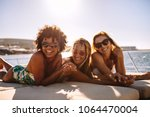 multiracial group of females...   Shutterstock . vector #1064470004