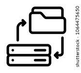 server folder sync | Shutterstock .eps vector #1064475650