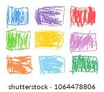 crayon rectangular colorful... | Shutterstock .eps vector #1064478806