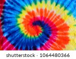 close up tie dye fabric pattern ... | Shutterstock . vector #1064480366
