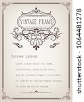 vintage frame with beautiful... | Shutterstock .eps vector #1064481278