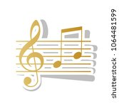 music violin clef sign. g clef... | Shutterstock .eps vector #1064481599