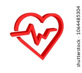 heartbeat line with heart icon... | Shutterstock .eps vector #1064485304