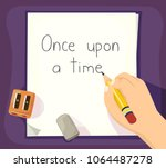 illustration of a hand of a kid ... | Shutterstock .eps vector #1064487278