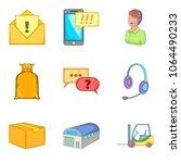 wholesale icons set. cartoon... | Shutterstock .eps vector #1064490233