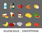 collection of food and products ...   Shutterstock .eps vector #1064494466