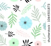 seamless floral pattern spring... | Shutterstock .eps vector #1064501873