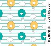 cute lovely cartoon hot air...   Shutterstock .eps vector #1064501888