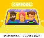 carpool. car sharing concept... | Shutterstock .eps vector #1064511524