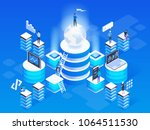 3d vector isometric... | Shutterstock .eps vector #1064511530