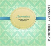 vector greeting card with... | Shutterstock .eps vector #106452059
