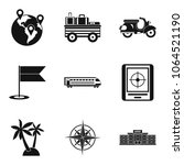 expedition icons set. simple... | Shutterstock .eps vector #1064521190