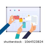 business task planning ... | Shutterstock .eps vector #1064523824