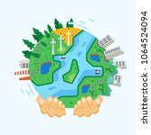 environment protection  use... | Shutterstock .eps vector #1064524094